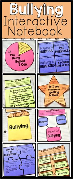 8 Bullying prevention interactive notebook pages. These pages are a great addition to your bullying lessons. Students will learn what bullying is, how to stand up to bullying and how to spread kindness.