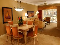 Suite with Dining and Living Room | Bellasera Hotel (@sunstream on Pinterest) | Naples, Florida