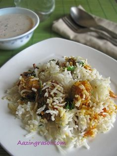 AmazingRasoi: Mushroom Biryani Mushroom Biryani, Mushroom Gravy, Chilli Paste, Long Grain Rice, Fried Onions, Garam Masala, Mushroom Recipes, Cooking Time, Indian Food Recipes