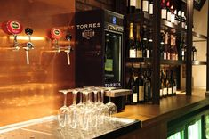 Torres branded Modular wine dispenser for Torres importer
