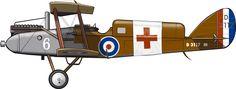 Un de Havilland DH.9 del destacamento aéreo enviado a Somalia en 1920, convertido en avión ambulancia mediante la instalación de una cabina con capacidad para un herido. Mohammed bin Abdullah Hassa…