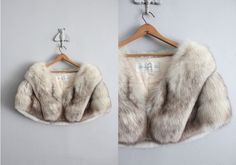 1950s vintage silver fox fur stole by allencompany on Etsy.