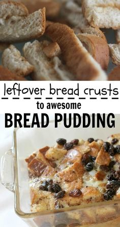Don't waste sandwich crusts… make bread pudding!
