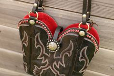 Sparkles! Red Swarovski crystals are on this purse recycled from cowboy boots! $395 www.diamond57.com