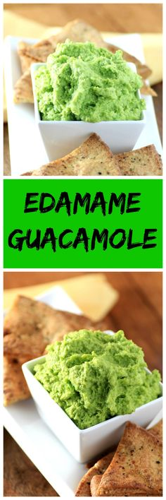 Edamame Guacamole Recipe from Noshing with the Nolands -  Put an Asian twist on your favorite Mexican dish. Vegan, gluten-free, low carb, and delicious!
