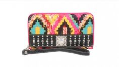 Aztec Collection Wallet - Pink
