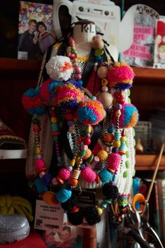 Studio, pompom necklaces