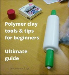Polymer clay ultimate guide for beginners Paper Mache Clay, Clay Art, Clay Stamps, Polymer Clay Tools, Arts And Crafts Supplies, Ceramic Clay, Clay Tutorials, Owl, Clay Jewelry