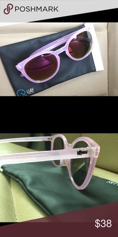 """Pink Quay Sunnies  💕 """"Dixie pink"""" sunglasses from Quay Australia. Perfect for summer! 💕 new and includes case Quay Australia Accessories Sunglasses"""