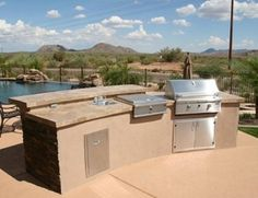 Split Level Outdoor Kitchen Outdoor Kitchen Unique Landscapes by Griffin Mesa, AZ