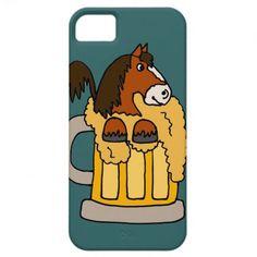 Funny Clydesdale Horse in Beer Mug iPhone 5 Case #clydesdales #beer #horses #funny #iphone5 And www.zazzle.com/tickleyourfunnybone*