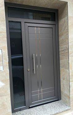 Catalogo de Puertas Modernas en Herreria 2019 - Decoracion de interiores Home Door Design, House Gate Design, Doors Interior Modern, Exterior Door Styles, Door Design Modern, Modern Exterior Doors, Modern Entrance Door