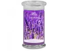 The soft and soothing aroma of a bouquet of lavender.  Infused with natural essential oils.