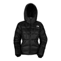 The North Face: Wm's Destiny Down Jacket. Can't decide if you want to be street worthy or ski bunny cute? Have both! This 800 fill down jacket has an amazing hand, a powder skirt and iPod pocket, detachable hood, glove liner cuffs,  and the list goes on. Perfect on and off the hill. Available now at Benchmark Outfitters!