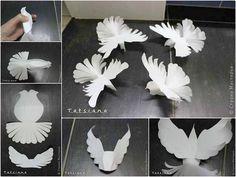 Bird sculpture for kids crafts 39 Ideas for 2019 Origami Paper, Diy Paper, Paper Art, Paper Crafts, Kids Crafts, Decor Crafts, Diy And Crafts, Paper Birds, Paper Flowers