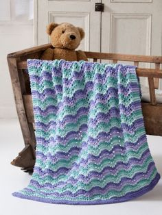 Lullaby Baby Blanket | Yarn | Knitting Patterns | Crochet Patterns | Yarnspirations