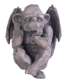 Kelkay 4421 Happy Zibling Statue -- Check this awesome product by going to the link at the image. Gnome Statues, Garden Statues, Outdoor Statues, Ornaments Design, Garden Ornaments, Gargoyle Tattoo, Freundlich, Cherub, Dream Garden