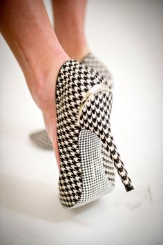 Salvatore Ferragamo Fall 2011 #shoes #want            Houndstooth will NEVER go out of style in AlaBama