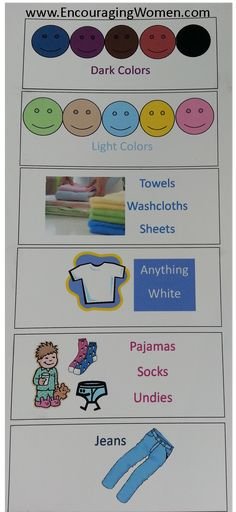 teaching children to sort laundry top posts on pinterest free printable. Black Bedroom Furniture Sets. Home Design Ideas