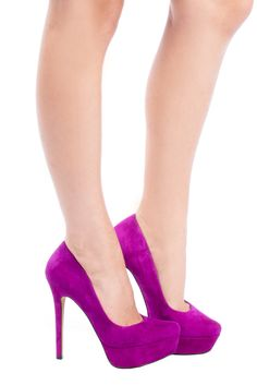 Fuchsia Pink High Heel Pumps <3
