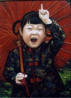 Reisz, Ilona - Chinese Little Girl - Art Now / Recent - Portrait - Oil on canvas