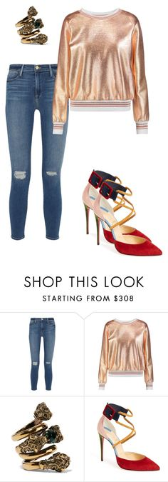 """Senza titolo #46"" by irene1562 on Polyvore featuring moda, Frame Denim, Raoul, Gucci e Christian Louboutin"