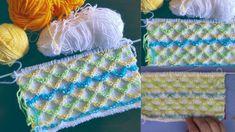 Renkli Fiyonklar Bebek Yelek ve Battaniye Örgü Modeli
