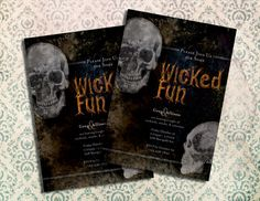 Wicked Fun Halloween Invitation  Printable by WhyHelloSunshine