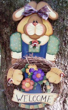 Bunny Wreath Holder