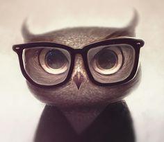 Nerdy Owl by vincenthachen.deviantart.com on @deviantART