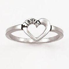 Open heart Jesus ladies christian Ring