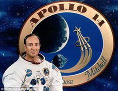 Moon mission: Edgar Mitchell, pictured, was the sixth person the walk on the moon and spent nine hours working on the lunar surface