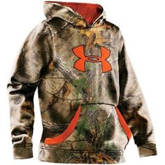 454671c3e195 Under Armour Boy s Realtree Camo Hoodie for Youth Under Armour Sweatshirts