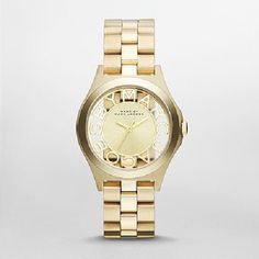 Marc by March Jacobs Henry Skeleton Gold Tone Link Watch - http://www.specialdaysgift.com/marc-by-march-jacobs-henry-skeleton-gold-tone-link-watch/