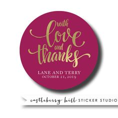 Wedding stickers thank you stickers custom thank you