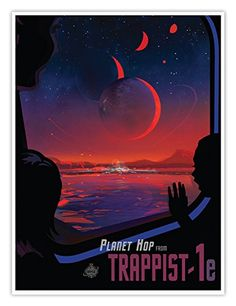 "- Voted best vacation spot in the ""Hab Zone""! A great space travel poster from your friends at NASA! Plan on vacationing among the stars. Check out the rest of our fantastic selection of NASA Travel posters! Need Poster Mounts. Space Tourism, Space Travel, Travel Trip, Travel Destinations, Fun Travel, Tourism Poster, Travel Posters, Desenho Pop Art, Photo Vintage"