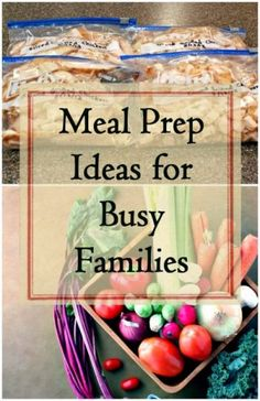 Meal prep and planning ahead can help ensure your family has healthy, nourishing meals and snacks, even when life gets busy. Here are some tips to help!