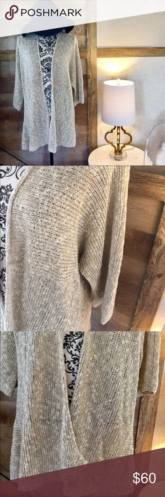 Eileen Fisher Oatmeal Long Cardigan Oatmeal colored. Eileen fisher. Long. Size XL. Excellent quality Eileen Fisher Tops Blouses