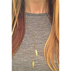 Golden Tone Two Leaves Pendent Necklace ($4.99) ❤ liked on Polyvore featuring jewelry, necklaces, golden, golden leaf necklace, curb chain necklace, leaf pendant necklace, curb link chain necklace and golden necklace