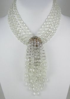 Coppola e Toppo Crystal Waterfall Choker Necklace