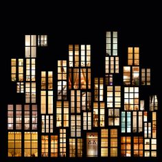 Stunning digital collages of windows and doors lit from within at night by French artist Anne-Laure Maison. Theatre Design, Stage Design, Event Design, Photomontage, Conception Scénique, Desgin, Night Window, Blog Art, Anne Laure
