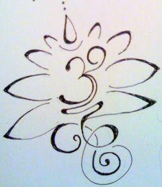 Om lotus original tattoo design sketch. ginaleecincotta@gmail.com