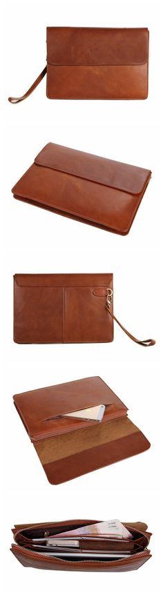 Handmade Genuine Leather Men Clutch Bag, Leather Wallet
