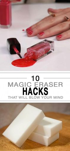 10 Magic Eraser Hacks you won't believe! Save yourself some serious time and cash with these tips. Cleaning, cleaning hacks, tips and tricks, organization. Homemade Cleaning Products, Household Cleaning Tips, Cleaning Recipes, House Cleaning Tips, Natural Cleaning Products, Cleaning Hacks, Hacks Diy, Cleaning Lists, Apartment Cleaning