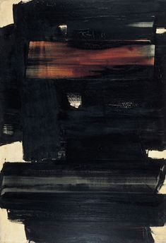 Pierre Soulages | Dark | #abstractart #abstractpainting