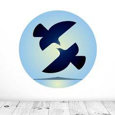 Morning Tui Mural Dot Decal | Glenn Jones Art New Zealand Vinyl Decals, Wall Decals, New Art, New Zealand, Print Design, Dots, Art Prints, Wallpaper, Handmade
