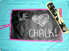 I didn't know they made Chalkboard Fabric. Take one along wherever you go.