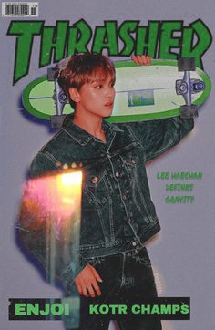 credits to the owner. Retro Aesthetic, Kpop Aesthetic, Kpop Posters, Magazine Wall, Thrasher Magazine, Instagram Frame, Retro Wallpaper, Cybergoth, Graphic Design Posters