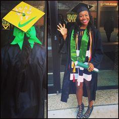 "Nike ""Just Do It"" Baylor graduation cap"