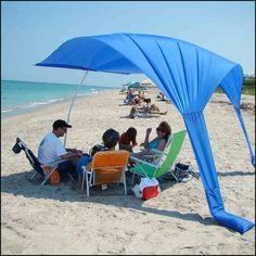 Beach Sails are the new beach umbrella as they provide more shade, do not blow away. portable, easy to carry, quick to set up PLUS they are made in the USA.